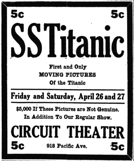 Titanic_newsreel_advert